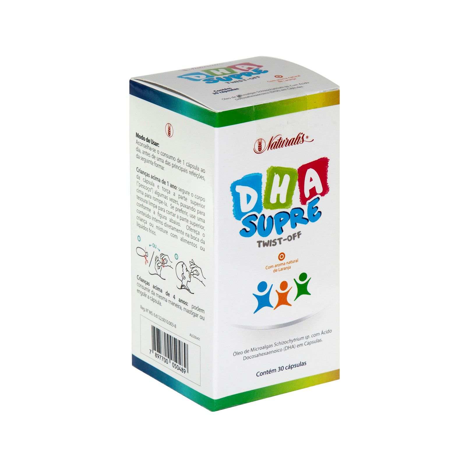 DHA Supre Infantil 30 Cápsulas Naturalis