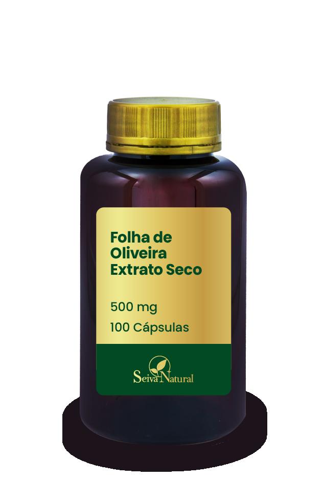 Folha de Oliveira Extrato Seco 500 mg 100 Cápsulas