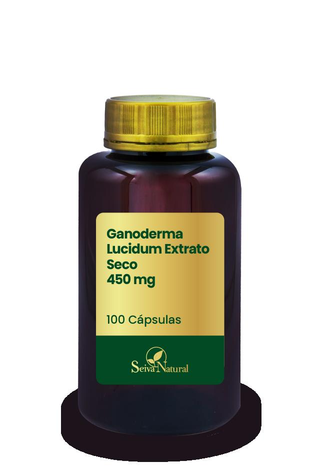 Ganoderma Lucidum Extrato Seco 450 mg 100 Cápsulas