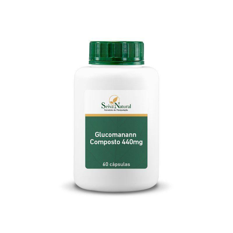 Glucomanann Composto 440 mg 60 Cápsulas
