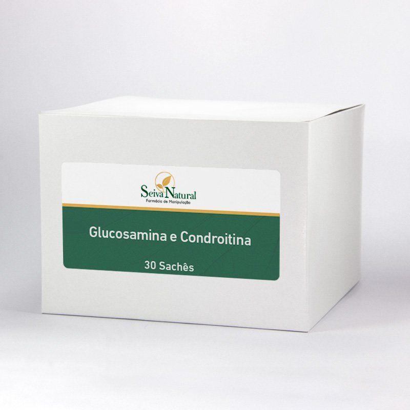 Glucosamina e Condroitina 30 Sachês Sabor Abacaxi