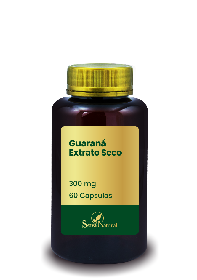 Guaraná Extrato Seco 300 mg 60 Cápsulas