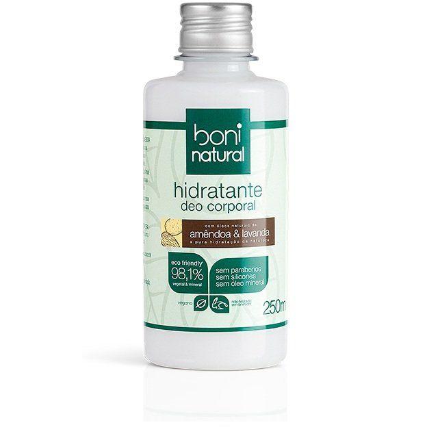 Hidratante Corporal Natural 250 ml Amêndoa e Lavanda Boni Natural