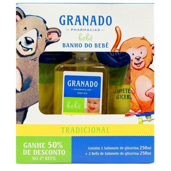 Kit  Banho do bebê Tradicional 250 ml Granado