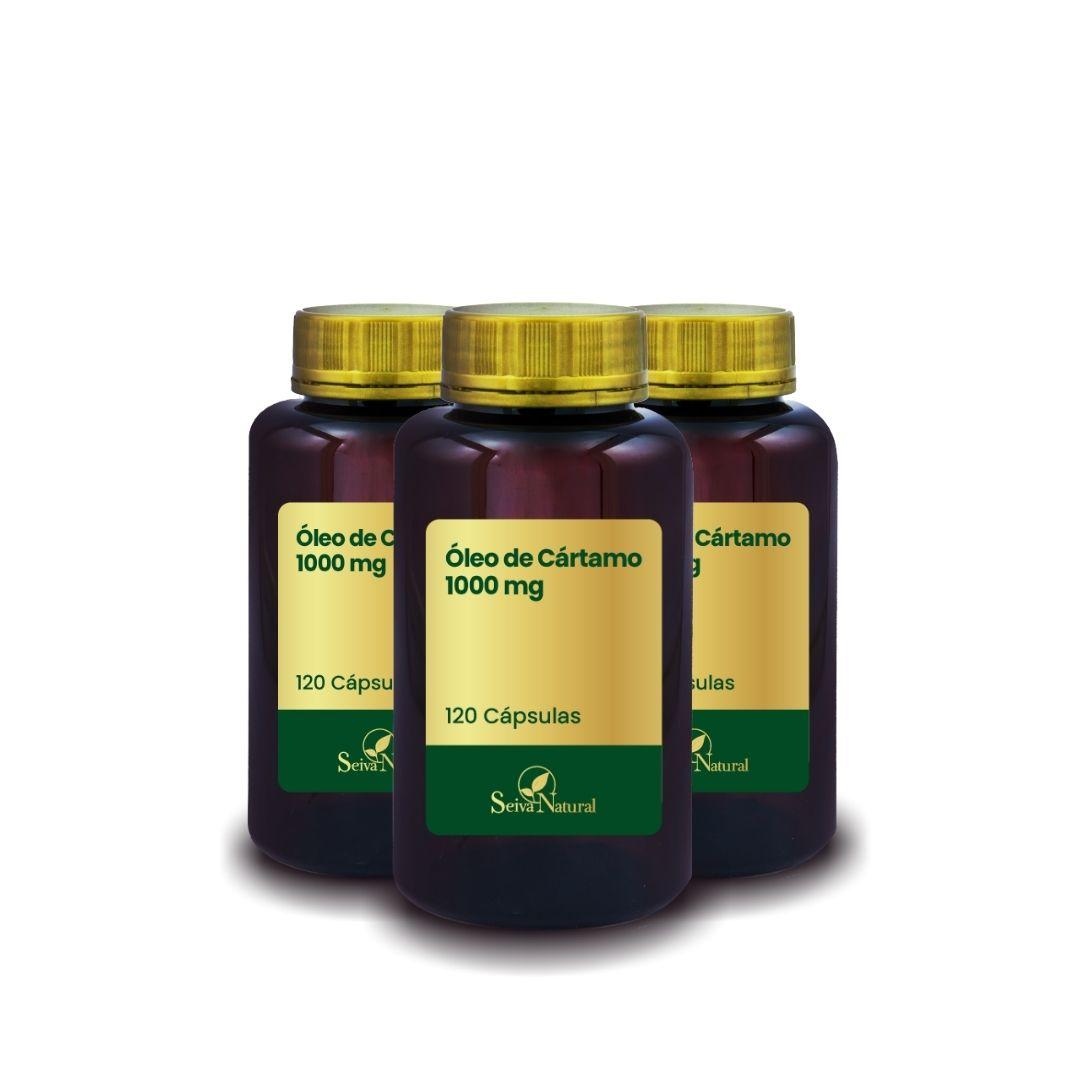 Kit Óleo de Cártamo 1000 mg 120 Cápsulas  3 Unidades
