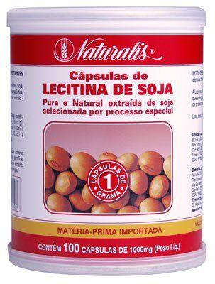 Lecitina de Soja 1000mg 100 cápsulas Naturalis