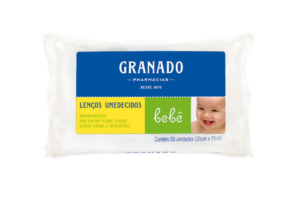 Lenços Umedecidos Tradicional Bebe Granado 50 unidades