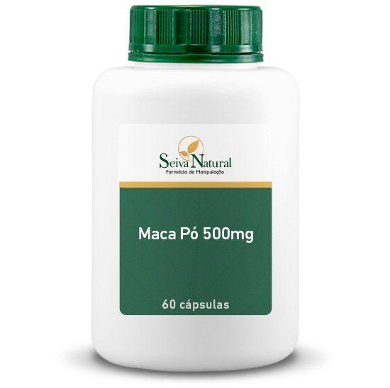 Maca Pó 500 mg 60 Cápsulas