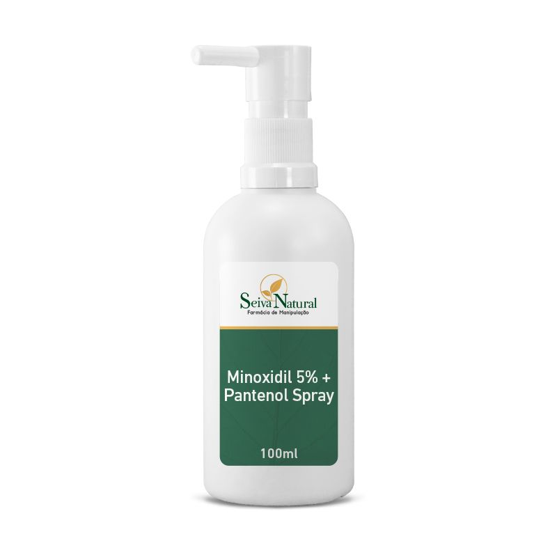 Spray  de Minoxidil 5% com Pantenol 100 ml