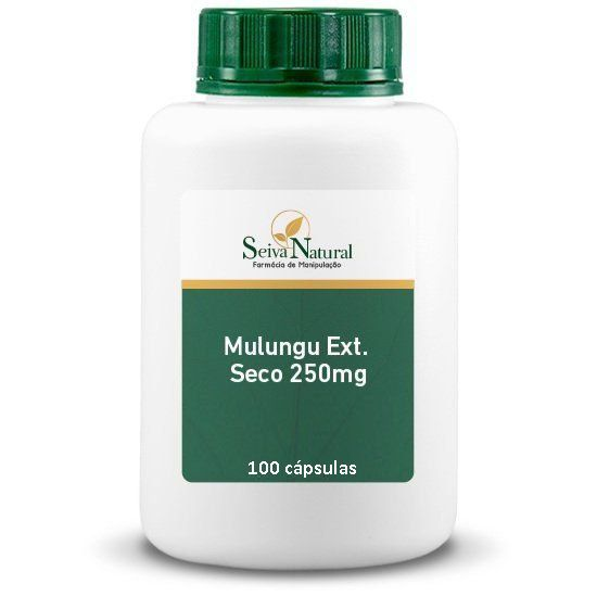 Mulungu Extrato Seco 250 mg 100 Cápsulas