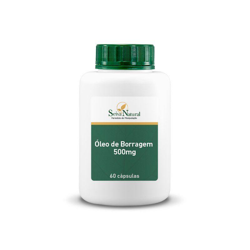 Óleo de Borragem 500 mg 60 Cápsulas