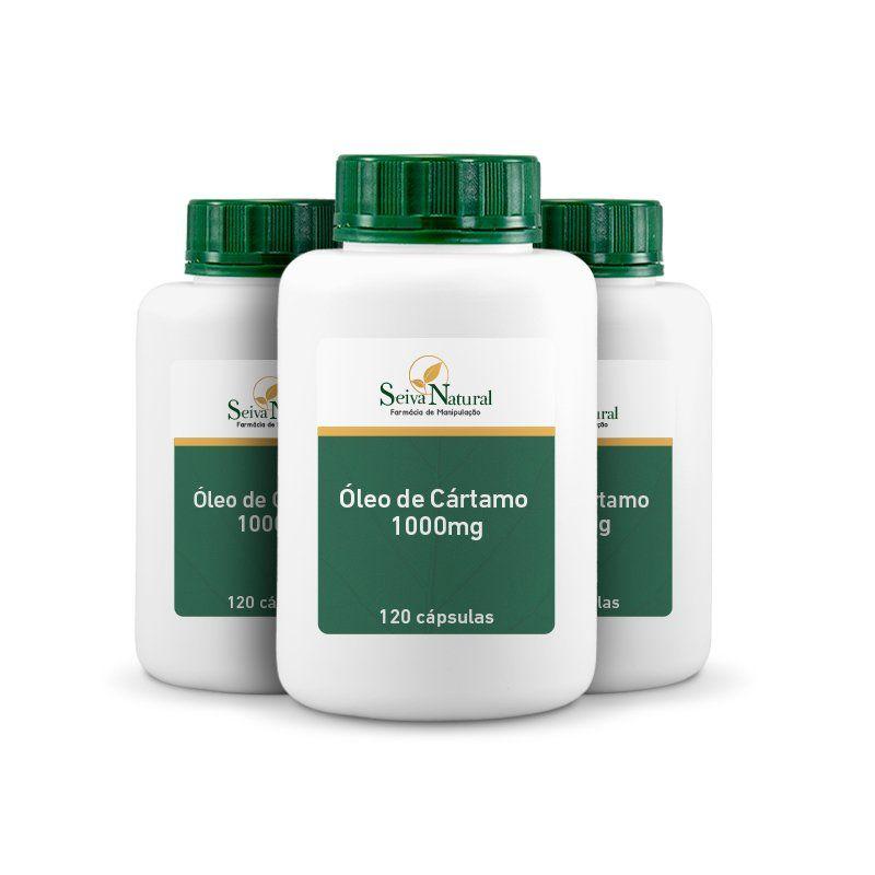 Óleo de Cártamo 1000 mg 120 Cápsulas  3 Unidades