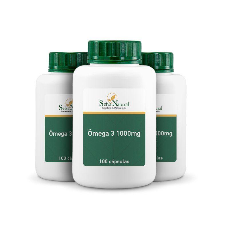 Ômega 3 1000 mg 100 Cápsulas 3 Unidades