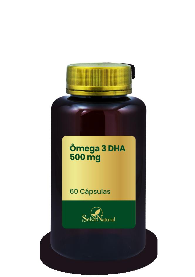 Ômega 3 DHA 500 mg 60 Cápsulas