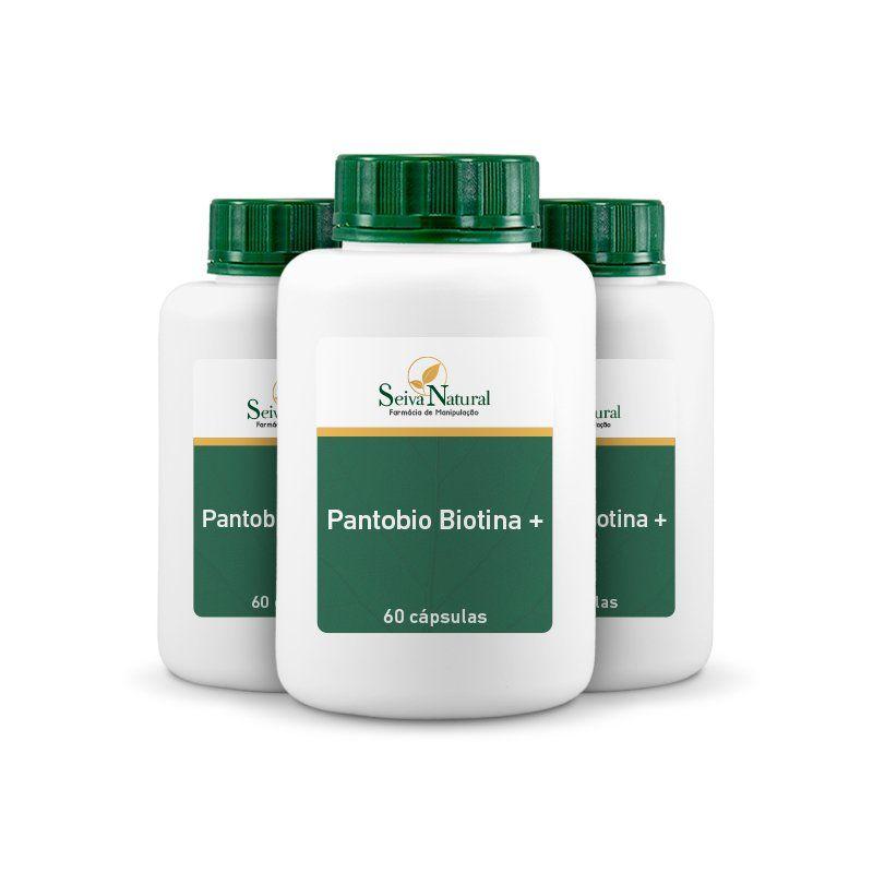 Pantobio Biotina + 60 Cápsulas 3 Unidades