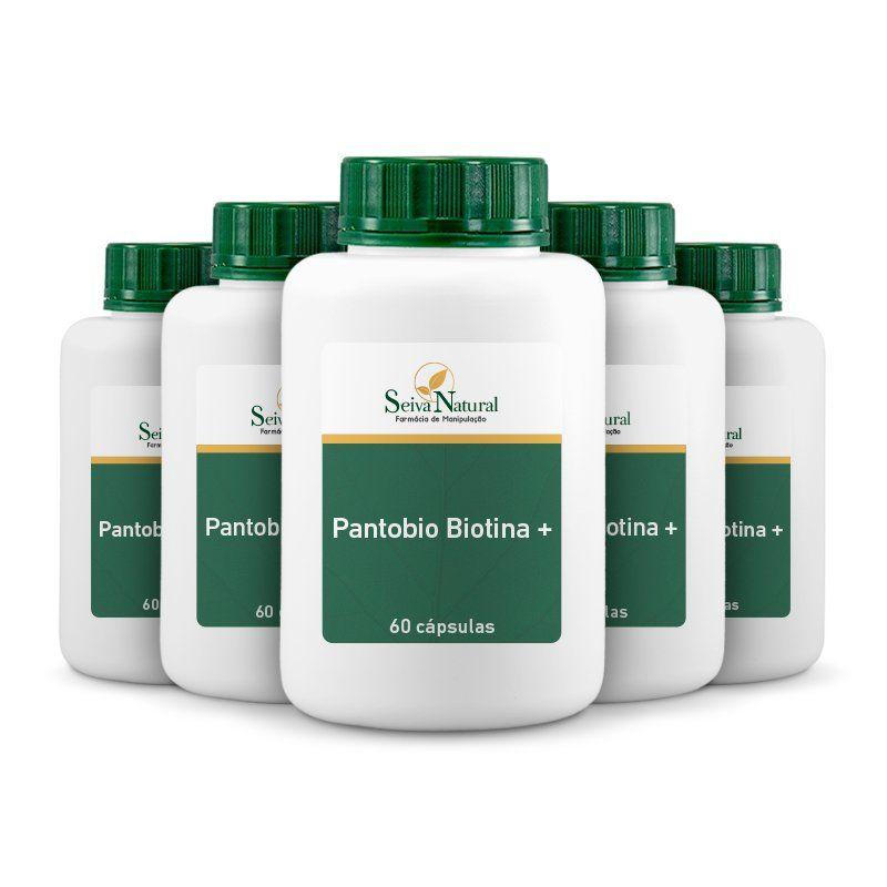 Pantobio Biotina + 60 cápsulas 5 unidades