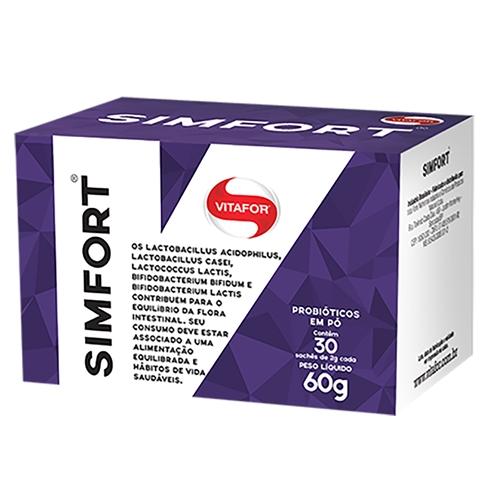 Probióticos em Pó Sinfort 30 sachês de 2 g Vitafort