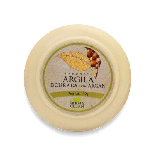 Sabonete de Argila Dourada com Argan 110 g  Dermaclean - SAIU DE LINHA