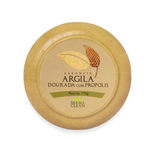 Sabonete de Argila Dourada com Própolis 110 g Dermaclean - SAIU DE LINHA