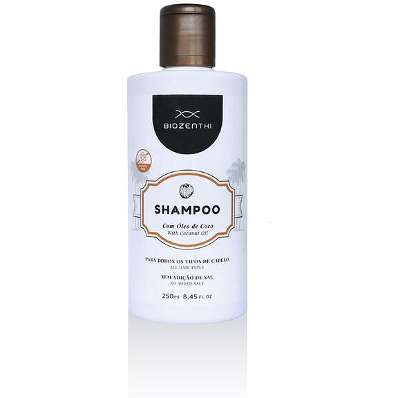 Shampoo com Óleo de Coco 250 ml Biozenthi