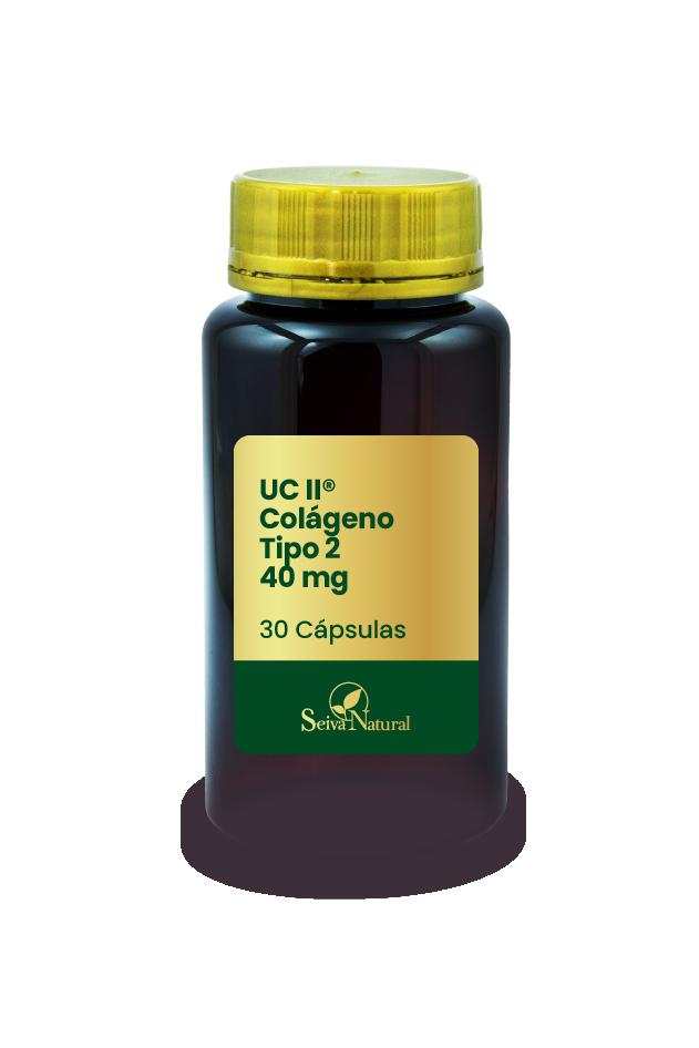 UC II Colágeno Tipo 2 40 mg 30 Cápsulas