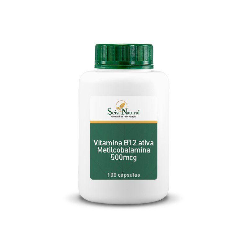 Vitamina B12 Ativa Metilcobalamina 500 mcg 100 Cápsulas