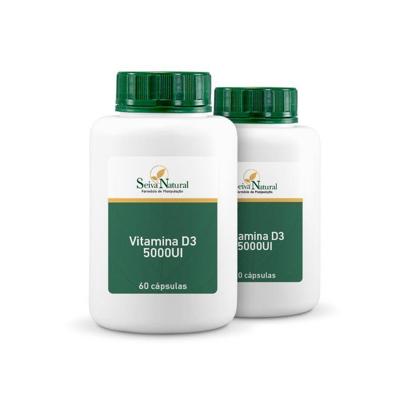 Vitamina D3 5000 UI 60 cápsulas 2 unidades