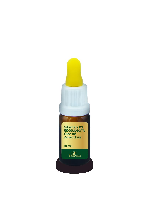 Vitamina D3 5000UI/GOTA 10 ml Óleo de Amêndoas