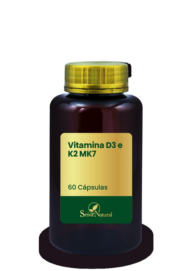Vitamina D3 e K2 MK7 60 Cápsulas