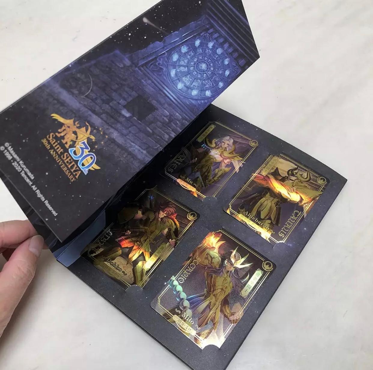 12 Cards Ouro Saint Seiya Cavaleiros Dos Zodíaco Comemorativo 30 Anos - ET