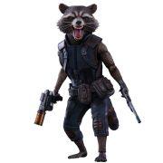 Boneco Rocket Raccoon: Guardiões da Galáxia Vol. 2 (Guardians of the Galaxy Vol. 2) Escala 1/6 (MMS410) - Hot Toys