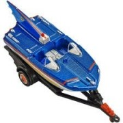 Carrinho Hot Wheels Batman Batboat e Trailer - escala 1/50 - (DC Comics) - Mattel