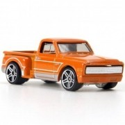 Carrinho Hot Wheels: Custom '69 Chevy Pickup Laranja - Mattel