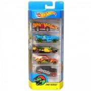 Carrinho Hot Wheels (Set com 5 Carros) Dino Riders (DVG02) - Mattel