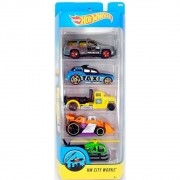 Carrinho Hot Wheels (Set com 5 Carros) HW City Works (DVF98) - Mattel