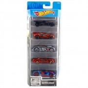 Carrinho Hot Wheels (Set com 5 Carros) Justice League (FKT50) - Mattel