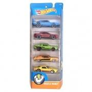 Carrinho Hot Wheels (Set com 5 Carros) Muscle Mania (DVG01) - Mattel
