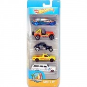 Carrinho Hot Wheels (Set com 5 Carros) Surf´s Up (DVG00) - Mattel