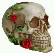 Caveira Decorativa com Rosas