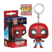 Pocket Pop Keychains (Chaveiro) Spider-Man (Homemade Suit): Homem Aranha De Volta ao Lar - Funko