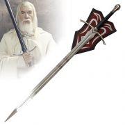 Espada Glamdring (Gandalf): O Senhor dos Anéis (The Lord of the Rings) - (Com Suporte)