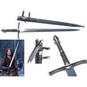 Espada Strider Aragorn: O Senhor dos Anéis (Lord Of The Rings) com Faca Acoplada Espada 125cm