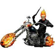 Boneco Motoqueiro Fantasma (Ghost Rider) with Hellcycle: Motoqueiro Fantasma (Ghost Rider) Escala 1/6 (MMS133) - Hot Toys - CG
