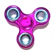 Hand Spinner Cromado Pink com anel Prata  - Rolamento Anti Estresse Fidget Hand Spinner