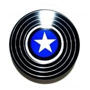 Hand Spinner de Metal Escudo América Preto - Rolamento Anti Estresse Fidget Hand Spinner