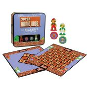 Jogo de Tabuleiro Dama & Jogo da Velha (Checkers & Tic-Tac-Toe) : Super Mario Bros (Collector's Edition) - USAopoly