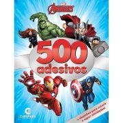 Livro de Atividades e 500 Adesivos Avengers: Marvel - (Médio)