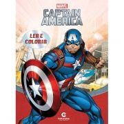Livro Ler e Colorir Capitão América: Marvel - (Grande)
