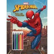 Livro Ler e Colorir com Lápis de Cor Spider-Man: Marvel