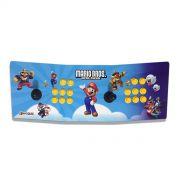 Máquina Fliperama (Controle Duplo Arcade) com desenho do Mario Bros